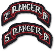 2nd and 5th Ranger Bn Scrolls